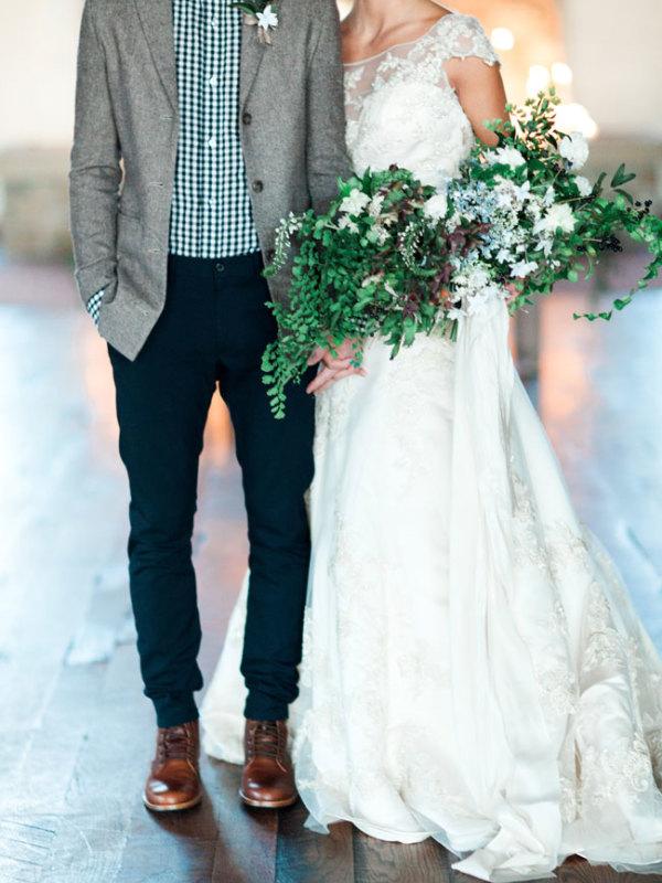 Groom in Casual Wedding Decor