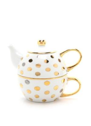 Ikat Polka Dot Tea for One