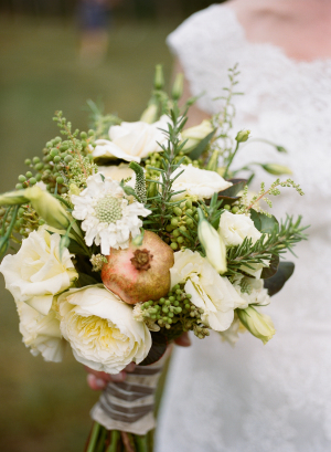 Ivory Bouquet with Pomegranate