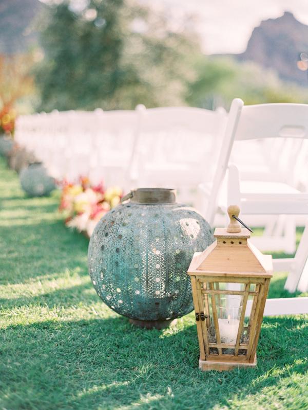 Lanterns Along Wedding Aisle1