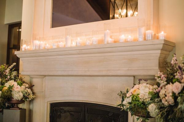 Mantel with Pillar Candles