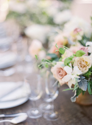 Mauve and Butter Wedding Flowers
