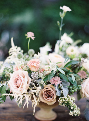Mauve and Pink Wedding Flowers
