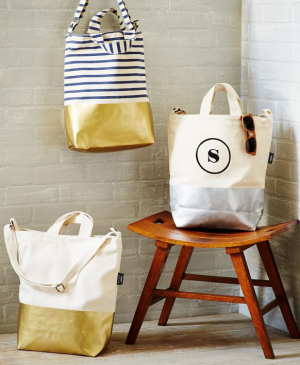 Metallic Dipped Tote Bags