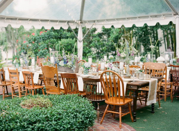 Mismatched Wooden Wedding Chairs