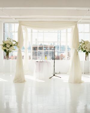 Modern Loft Wedding Ceremony