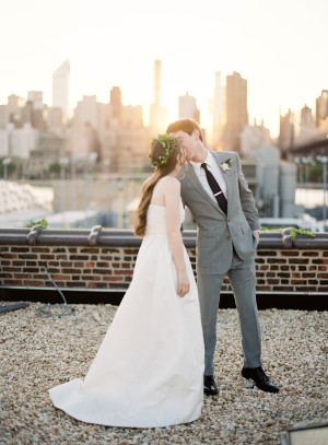 Modern NYC Wedding at The Foundry from Jen Huang 10