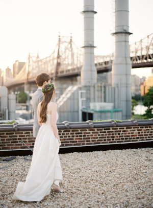 Modern NYC Wedding at The Foundry from Jen Huang