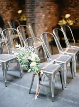 Modern Silver Wedding Chairs