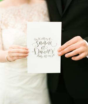 Modern Wedding Program