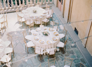 Outdoor Reception in Gold and Ivory