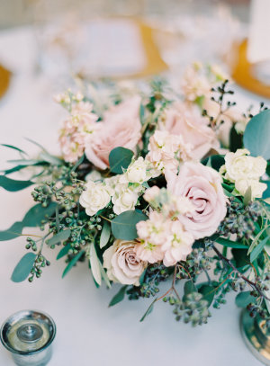 Pale Blush Rose Centerpiece