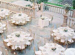 Pale Gold Wedding Reception