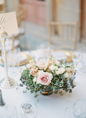 Pale Pink Posy Centerpiece
