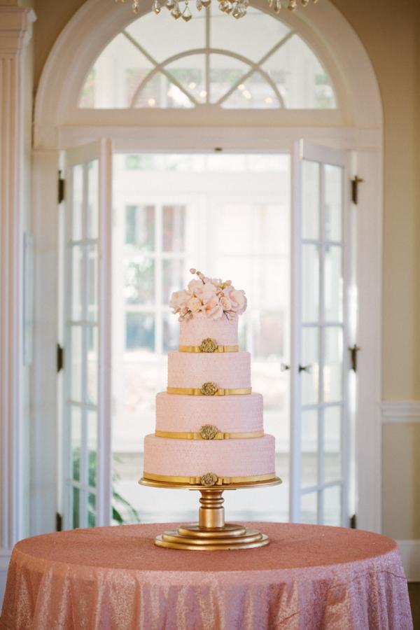 Pink and Gold Wedding Cake - Elizabeth Anne Designs: The Wedding Blog