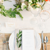 Place Setting at Winery Wedding