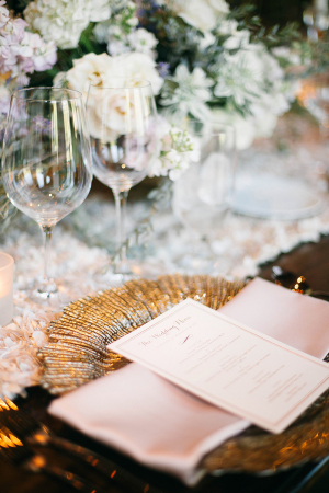 Place Setting in Blush and Gold