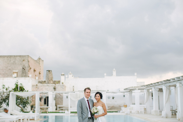 Poolside Italian Wedding Les Amis