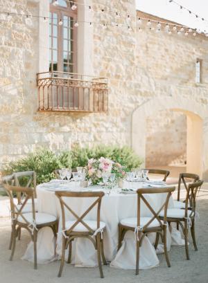 Pretty Wood Wedding Chairs