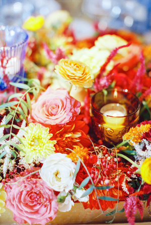 Red and Yellow Southwestern Wedding Flowers