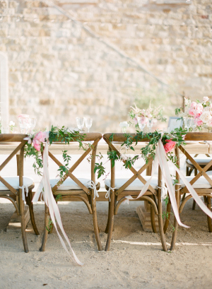 Ribbon and Garland on Chair