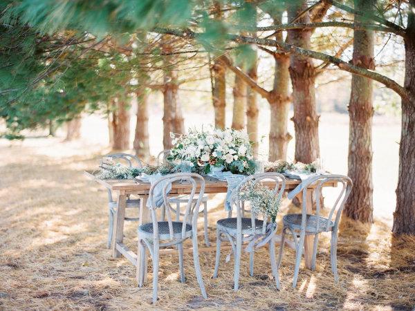 Rustic Gray Green Tabletop