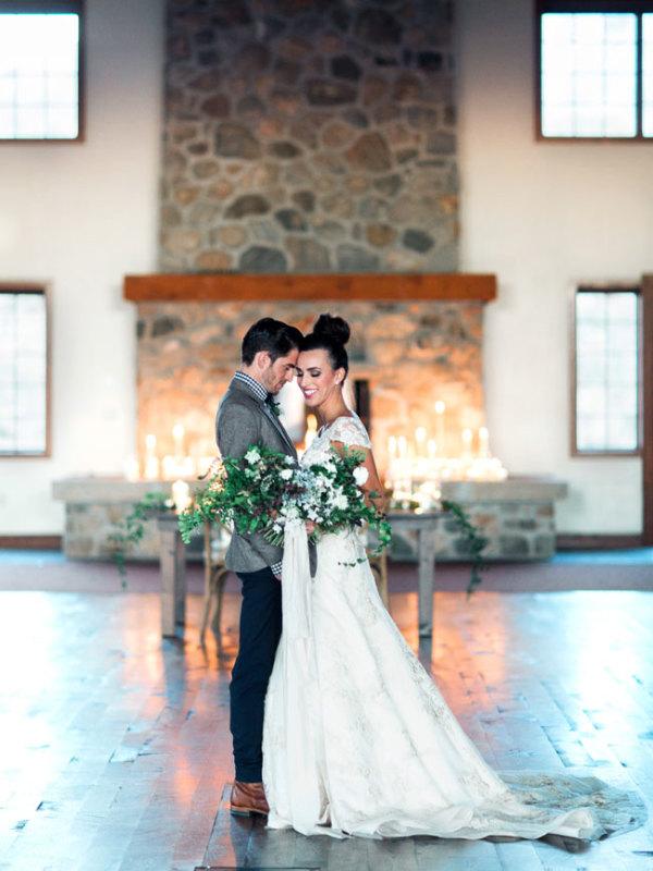 Rustic Holiday Elegant Wedding Inspiration