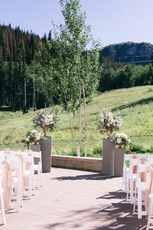 Rustic Summer Wedding Altar