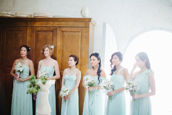 Seafoam Green Bridesmaids Dresses
