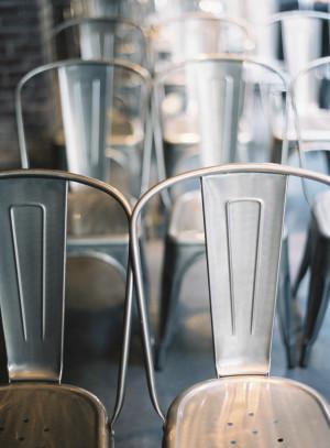 Silver Modern Wedding Chairs