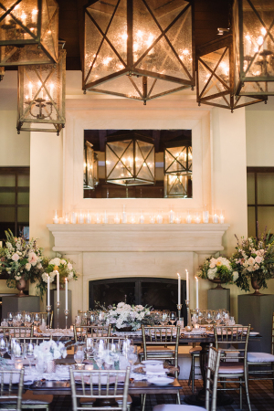 Silver and Brown Wedding Reception