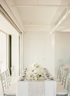 Silver and White Modern Wedding