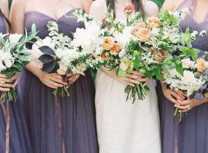 Smoky Purple Bridesmaids Dresses