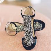 Sparkle Black Wedding Shoes