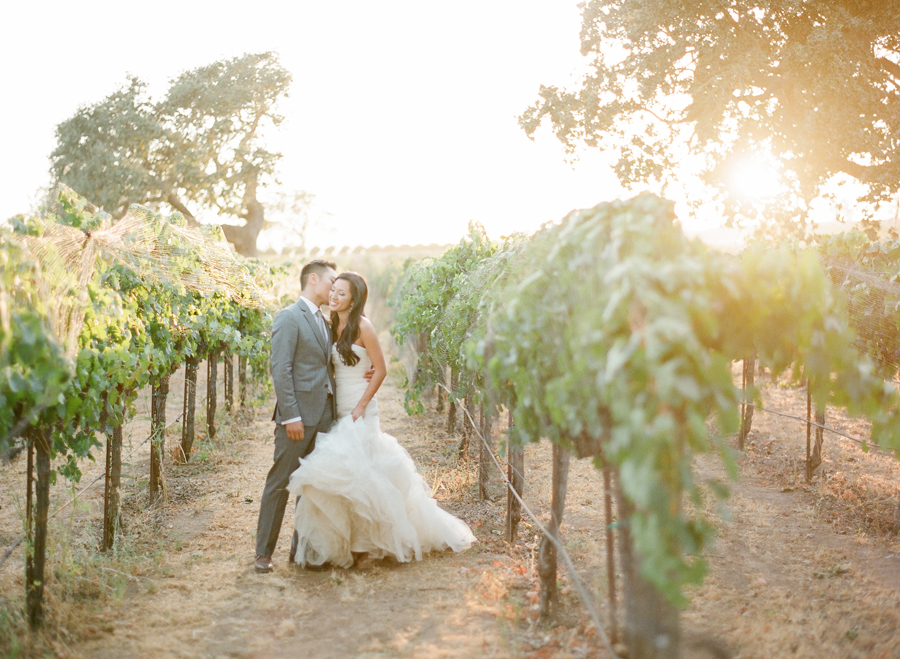 Merry family winery wedding
