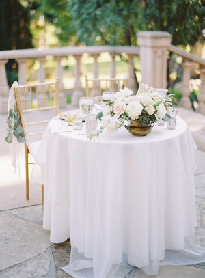 Sweetheart Table in Ivory