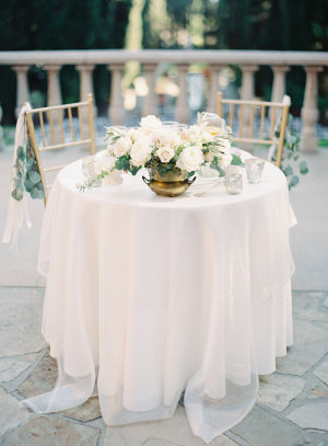 Sweetheart Table with Sheer Linens