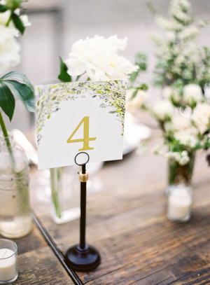 Table Numbers from Minted