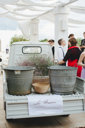Truck of Herbs at Wedding