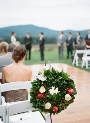 Wedding Wreath with Apples