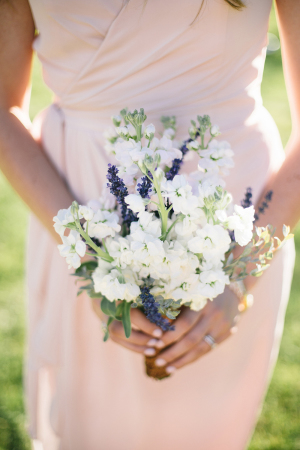 White Bridesmaids Posy