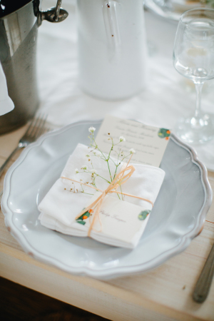 Wrapped Twine Napkin Place Setting