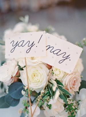 Yay and Nay Wedding Signs
