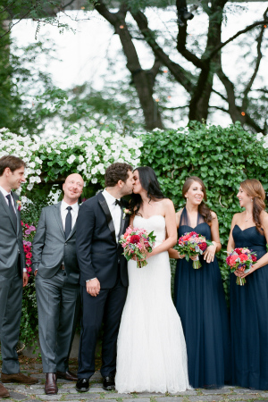 Blue and Gray Bridal Party