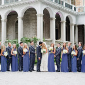 Blue and Gray Bridal Party1