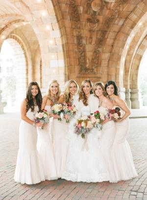 Blush Monique Lhullier Bridesmaids Dresses