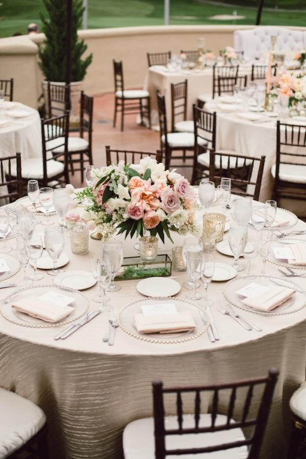 Blush And Champagne Reception Elizabeth Anne Designs