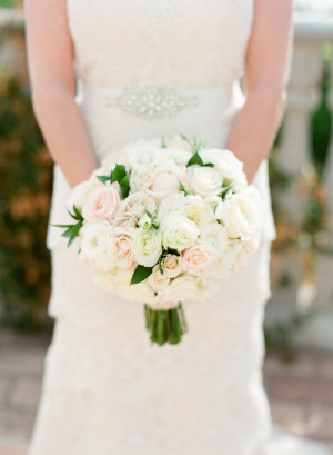 Blush and Ivory Rose Bouquet