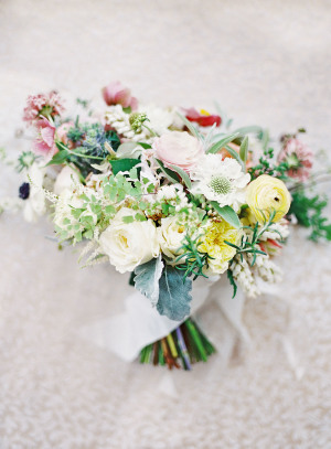 Bouquet with Yellow and Pale Red