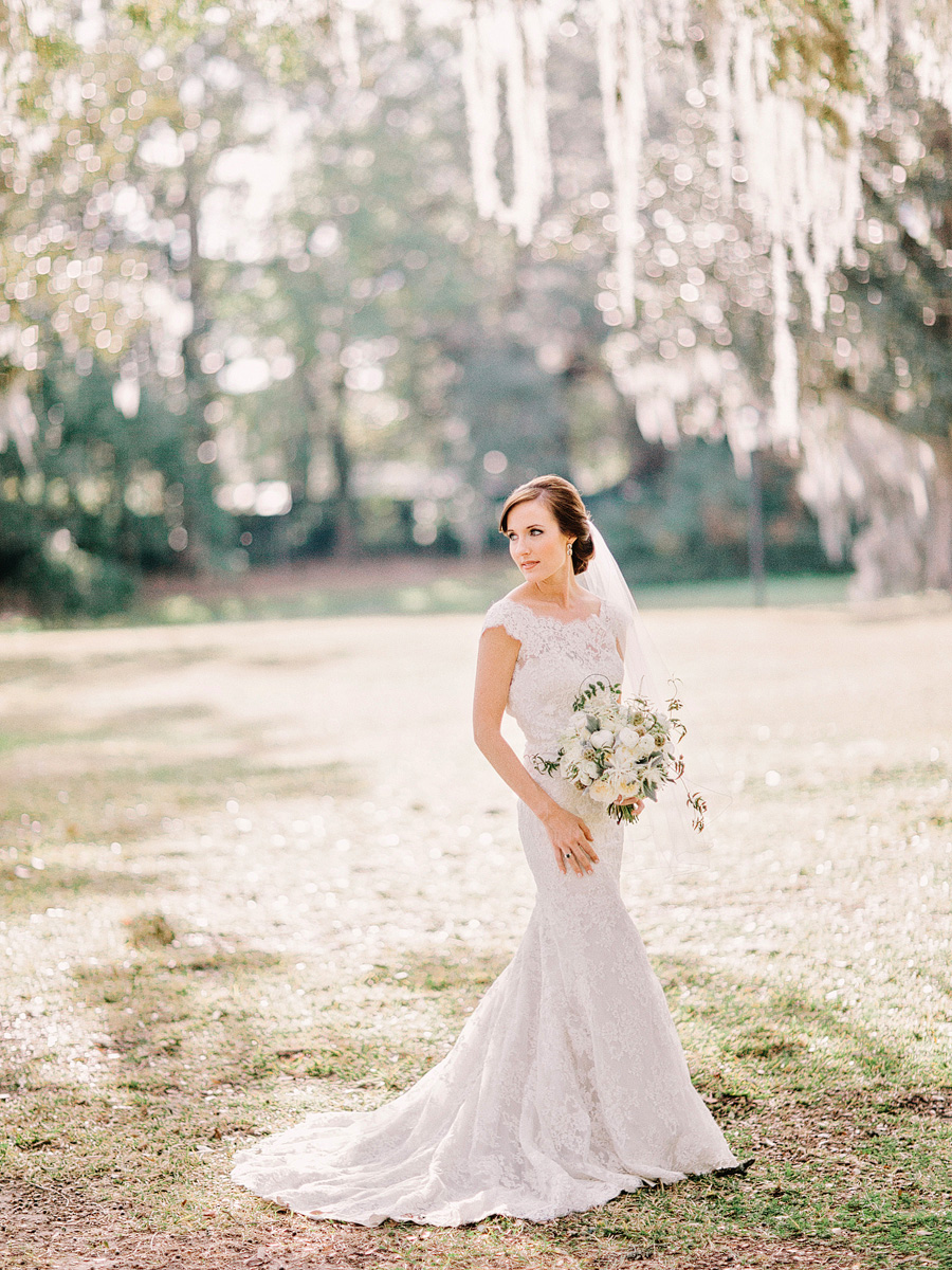 Bride at Charleston Plantation Wedding